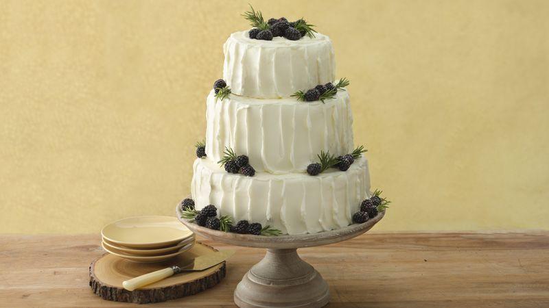 Blackberry Vanilla Wedding Cake