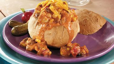 Santa Fe Chicken Bread Bowls
