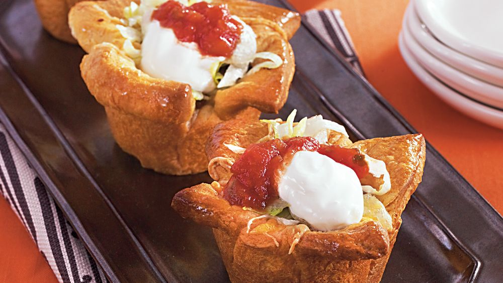 Beef and Black Bean Taco Cups