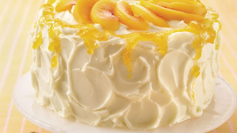 Peaches and Cream Angel Cake