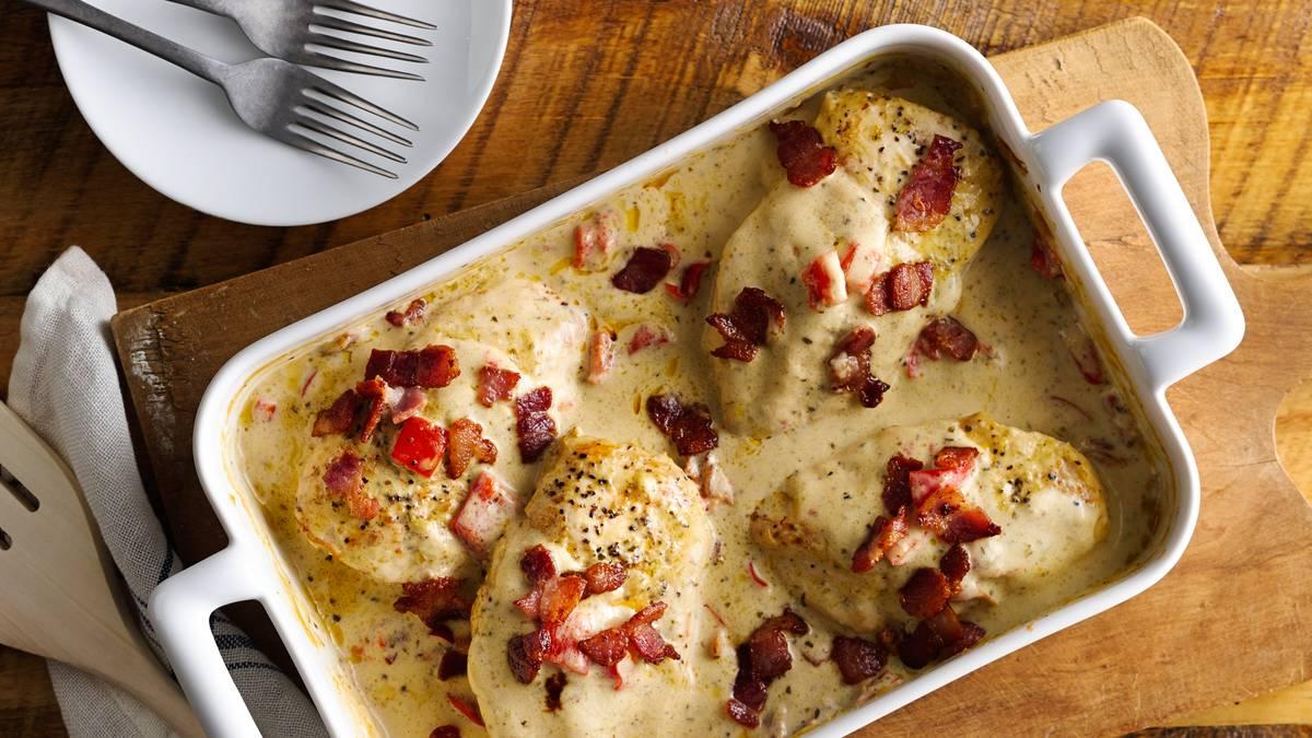5-Ingredient Smothered Chicken Bake