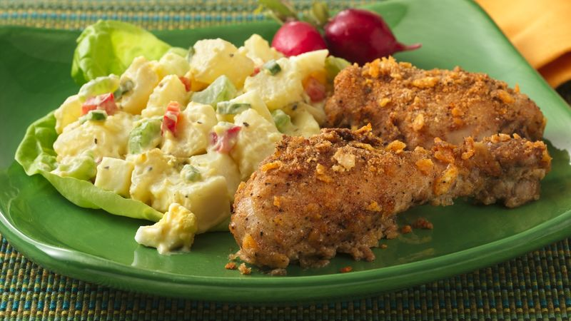 Crispy Buttermilk Oven-Fried Chicken (Makeover) Recipe ...