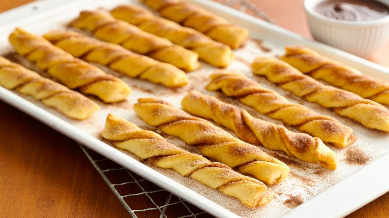 Baked crescent churros recipe pillsbury baked crescent churros forumfinder