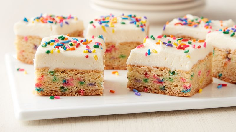 Cake Batter Cookie Bars