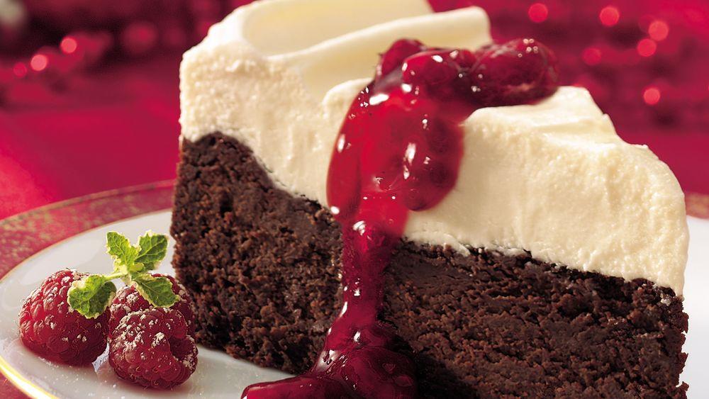 White Chocolate-Fudge Torte
