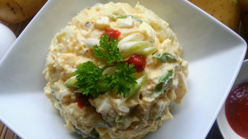 Potato Salad with Eggs and Sriracha