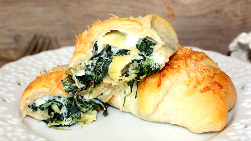 Spinach and Artichoke-Stuffed Crescents