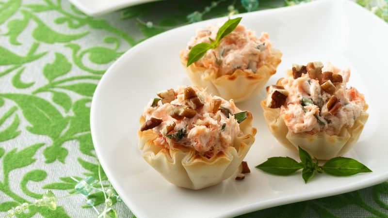 Smoked Salmon Cheese Cups
