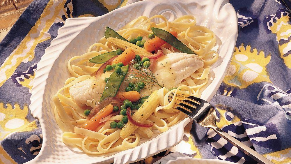 Haddock with Lemon-Pepper Vegetables