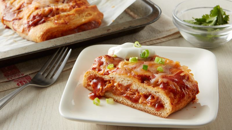 Chicken Enchilada Stuffed Crescent Bread