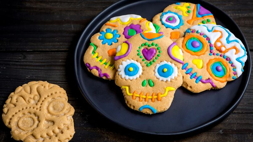 Day of the Dead 3-Ingredient Peanut Butter Cookies