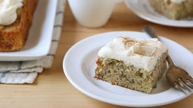 Zucchini-Banana Cake with Cream Cheese Frosting