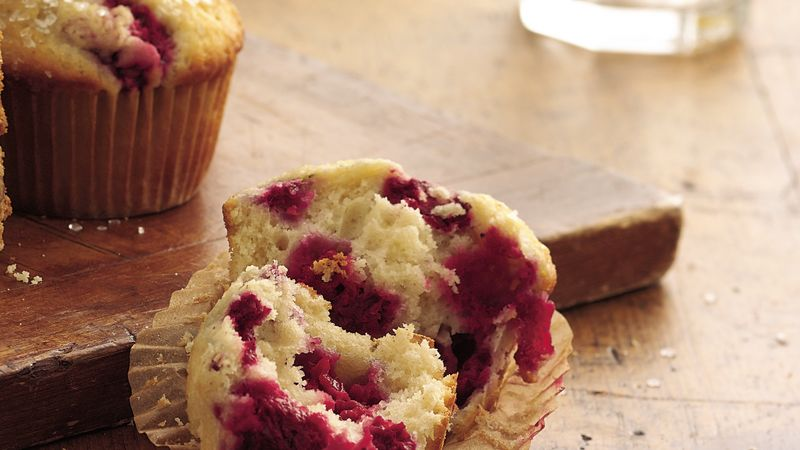 Sugar-Topped Raspberry Muffins
