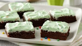 Peppermint-Rainbow Chip Frosted Brownies