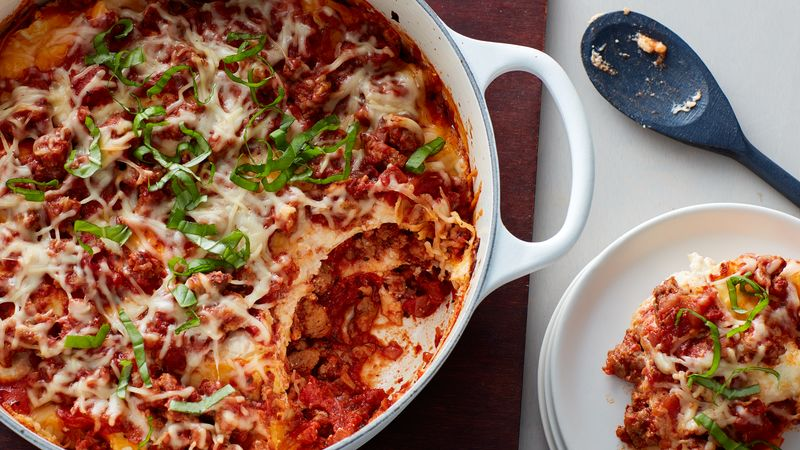 One Pot Sausage Lasagna