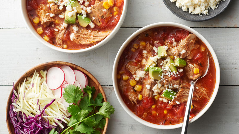 Slow-Cooker Pulled Pork Stew with Corn