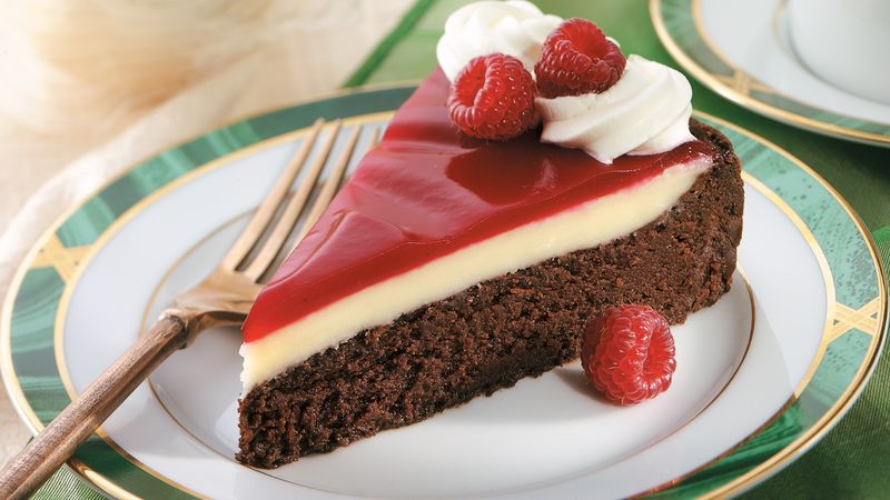 Raspberry Glazed Double Chocolate Dessert Recipe