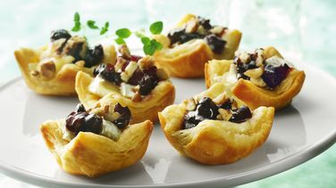 Camembert and Cherry Pastry Puffs