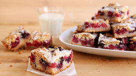 Summer Berry Cobbler Bars