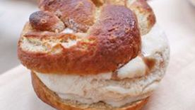 Pretzel-Caramel Ice Cream Sandwiches