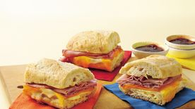 Two-Cheese and Ham French Loaf