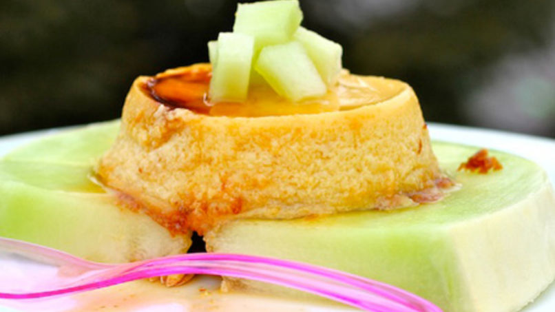 Honeydew Melon Flan