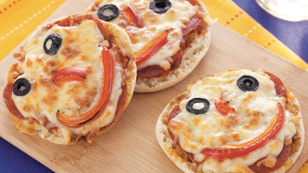 Mini Monster Pizzas