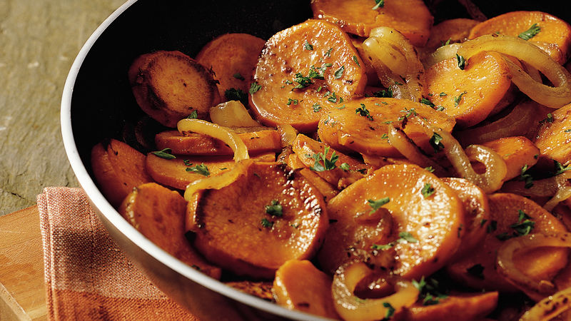 Caramelized Onion and Sweet Potato Skillet