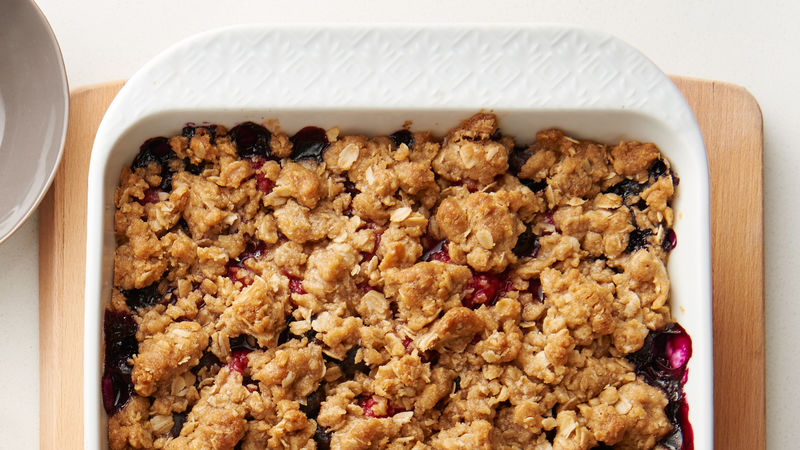 Easy Double Berry Crisp