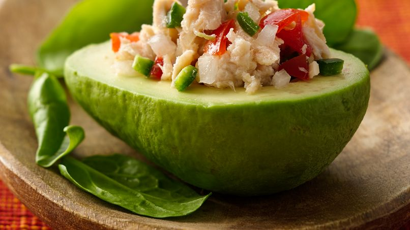 Mexican-Style Tuna Stuffed Avocados