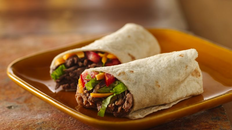 Beef Burritos Recipe Bettycrocker Com