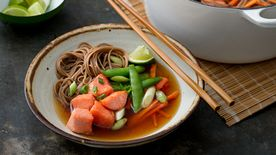 One-Pot Soba with Salmon