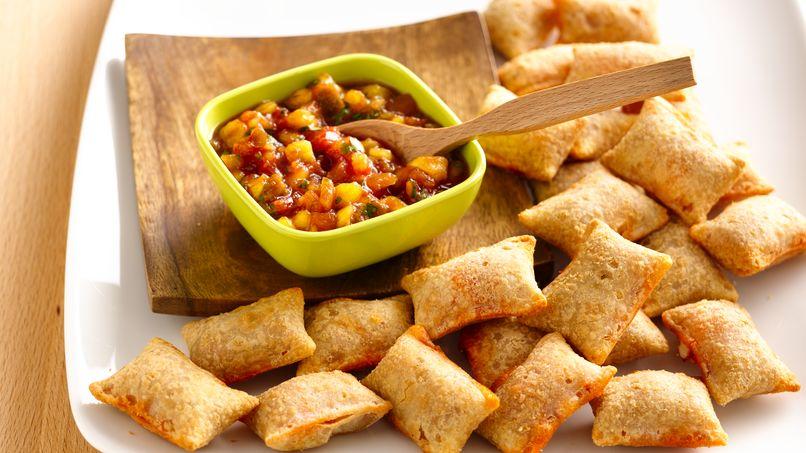 Salsa de Mango y Pizza Rolls® de Preparación Rápida