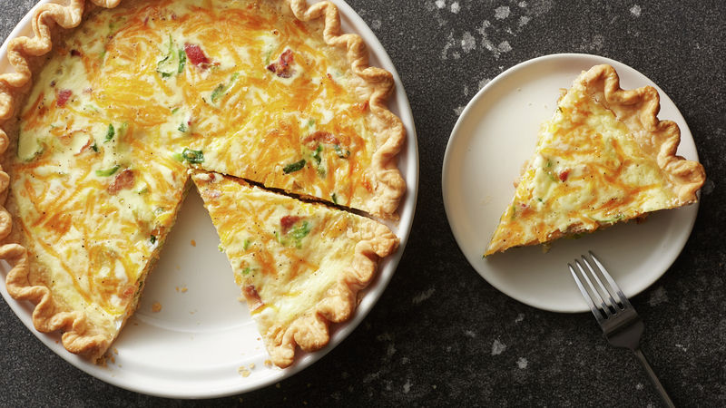 Bacon and Brussels Sprout Breakfast Quiche