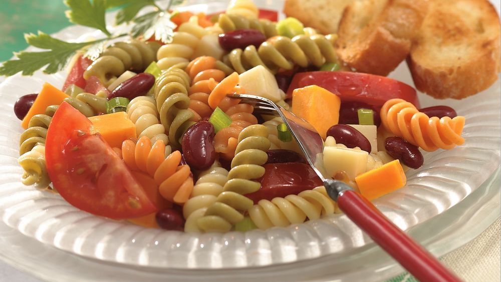Double Cheese, Bean and Pasta Salad