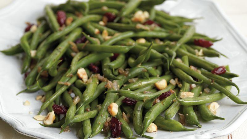Cranberry-Hazelnut Green Beans