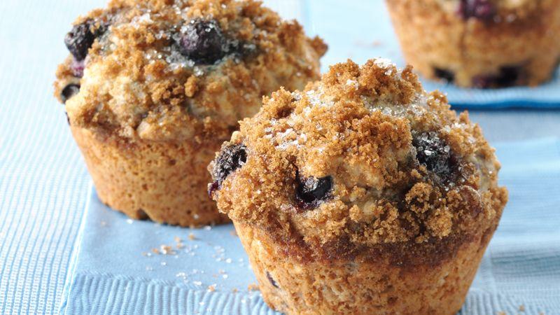 Whole Wheat-Blueberry Muffins Recipe - BettyCrocker.com