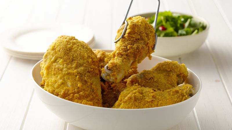 Cornbread Crusted Chicken
