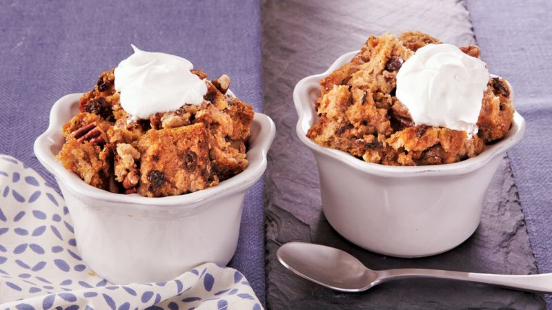 Individual Slow-Cooker Cinnamon-Raisin Bread Pudding