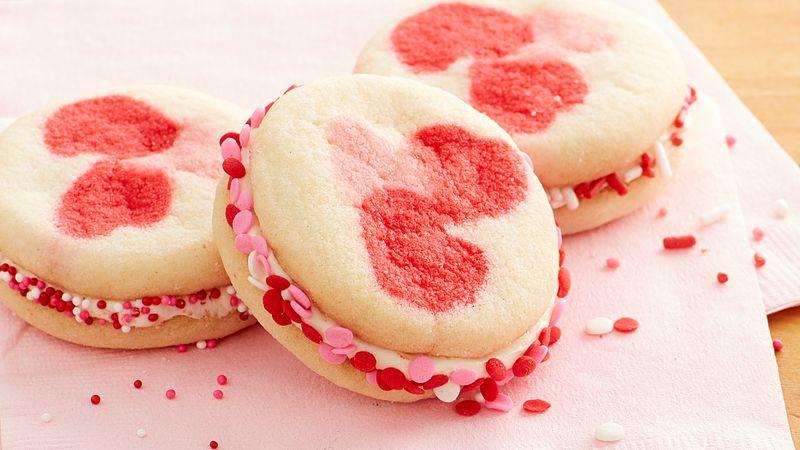 Valentine Hearts Sandwich Cookies