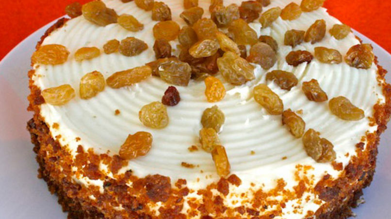 Carrot Cake with Yellow Raisins
