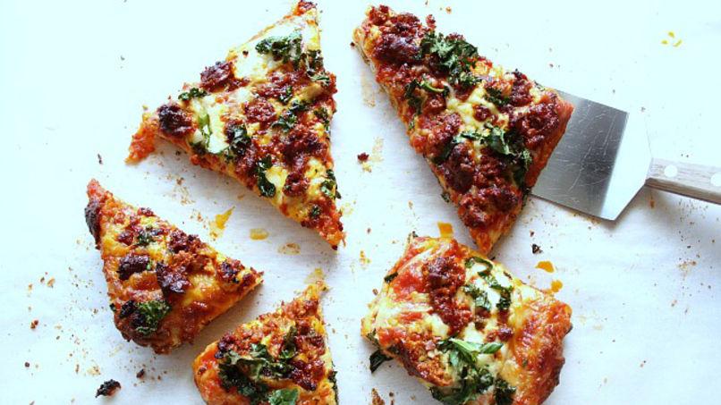 Chorizo Kale Pizza