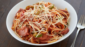 Cajun Pasta with Smoked Sausage