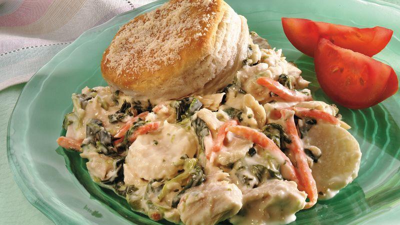 Cheesy Tuna-Spinach Bake