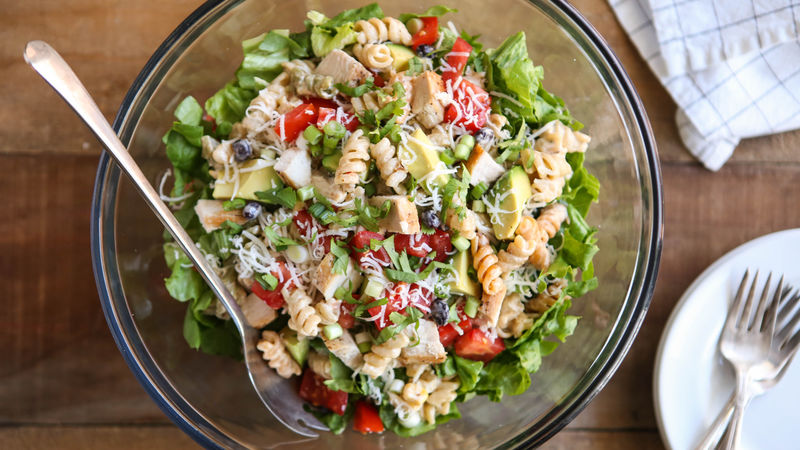 Southwest Green Chile-Chicken Pasta Salad