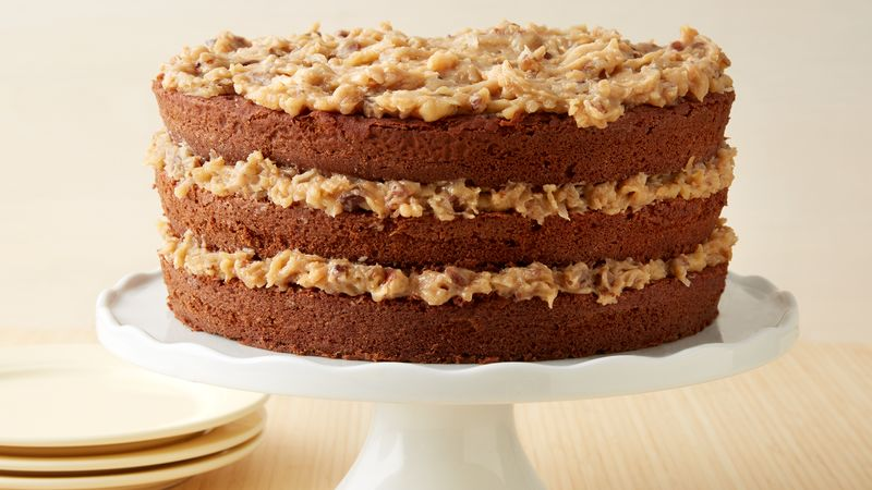 Cool German Chocolate Cake With Coconut Pecan Frosting Recipe Funny Birthday Cards Online Hendilapandamsfinfo