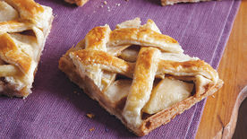 Latticed Apple Slab Pie Bars