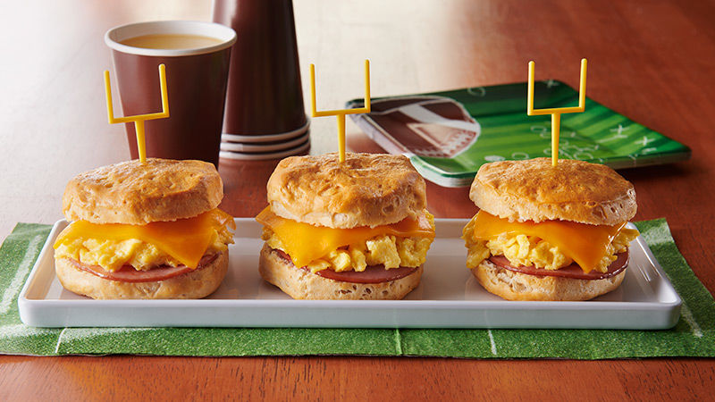 Big Game Biscuit Breakfast Sandwiches
