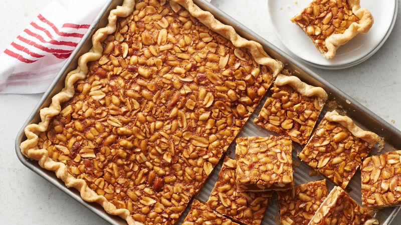 Salted Peanut Slab Pie