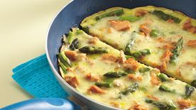 Salmon and Asparagus Frittata